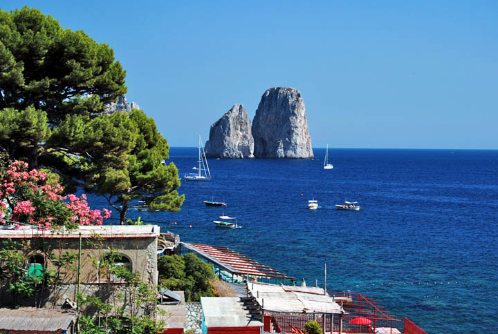 Capri Italy Apartment Rent Bay Marina Piccola